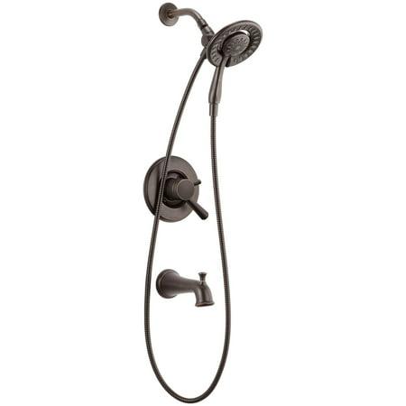 Delta Linden: Monitor 17 Series Tradtional Tub & Shower Trim with (17 Raindrop Shower Arm)