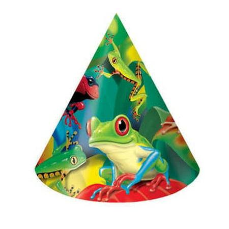 Fun Frogs Cone Hats (8ct) (Fun Cone Hat)
