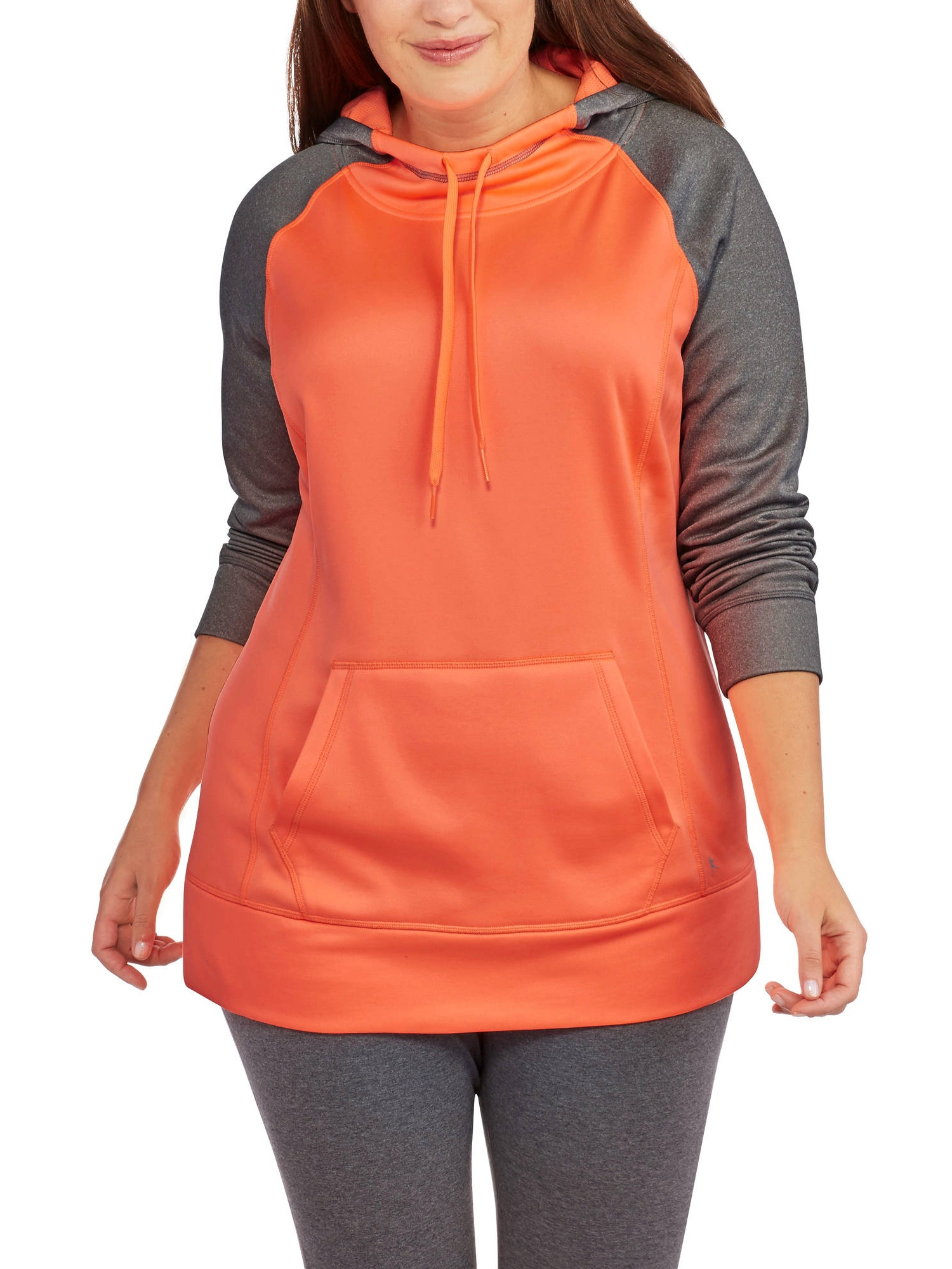 Women's Plus-Size Pullover Hooded Performance Fleece