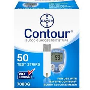 Bayer Contour Blood Glucose Test Strips (50/btl)