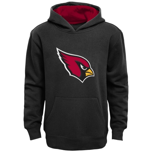Arizona Cardinals Youth Fan Gear Prime Pullover Hoodie - Black