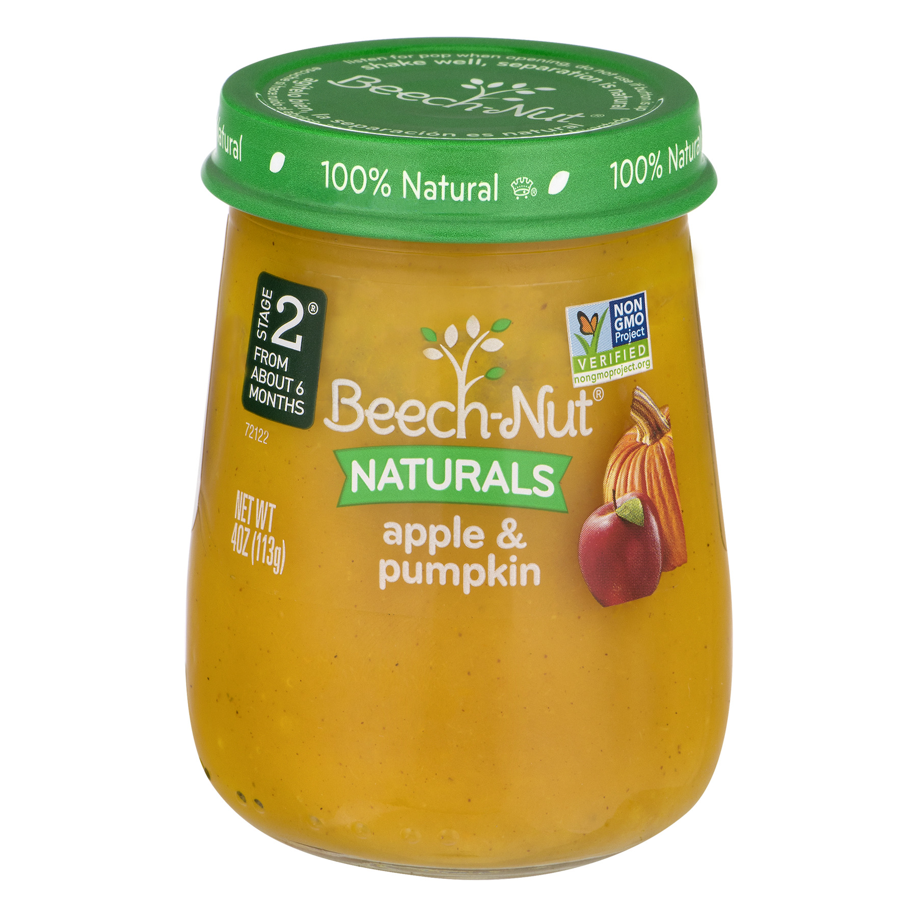 Beech-Nut Naturals 10 Pack Stage 2 Apple & Pumpkin, 4.0 OZ