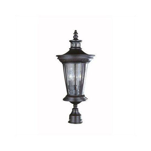 World Imports Old World Charm 3 Light Outdoor Post Lantern