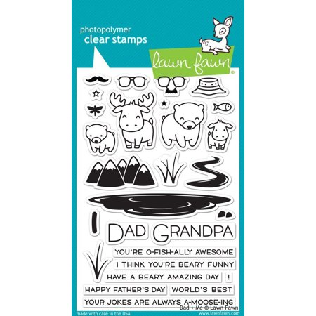 Clear Stamps - Dad + Me stamps, 01 Stamps Scrapbooking Tiny Lawn Design Planer Work Sayings LF1430 Pack Pieces Cookie item tion Stitched Cut Making Two.., By Lawn Fawn Ship from US