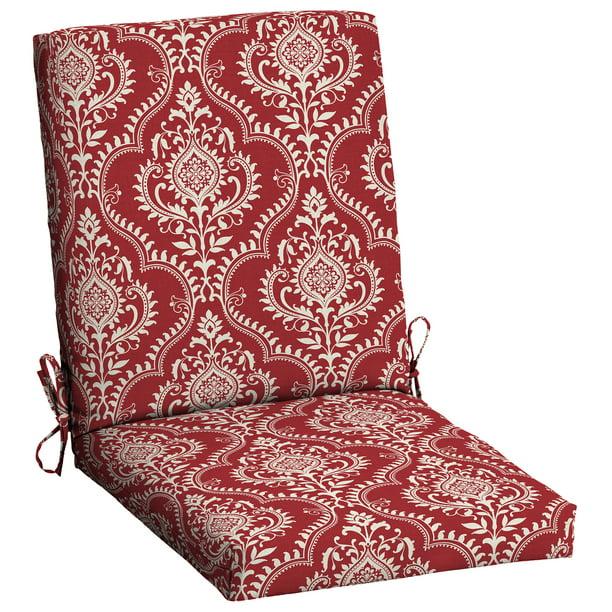 Mainstays Red Medallion 43 X 20 In Outdoor Dining Chair Cushion Walmart Com Walmart Com