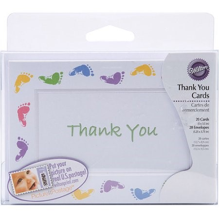 Wilton Baby Feet Thank You Cards, 1 Ct
