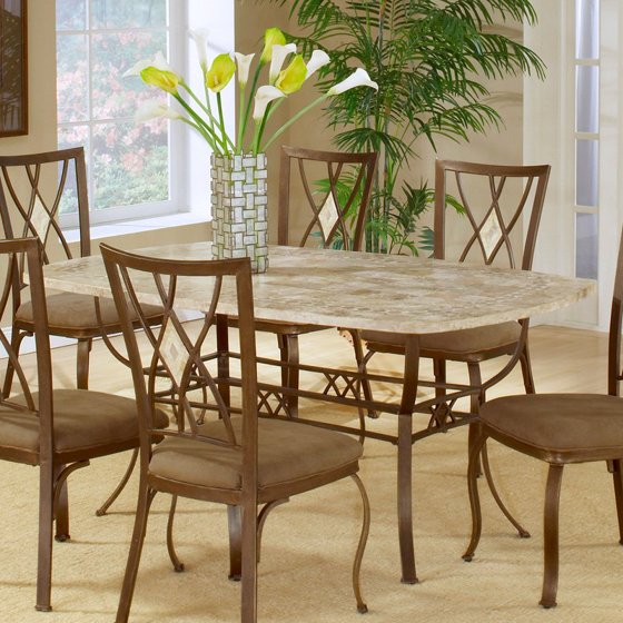 Hillsdale Brookside 42 X 66 Rectangle Dining Table-Brown