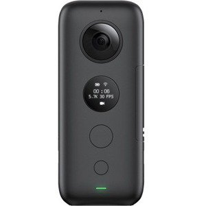 Insta360 ONE X Digital Camcorder - CMOS - 4K - Black - 16:9 - MP4, H.264 - USB - microSD - GPS - Memory Card - Tripod Mount