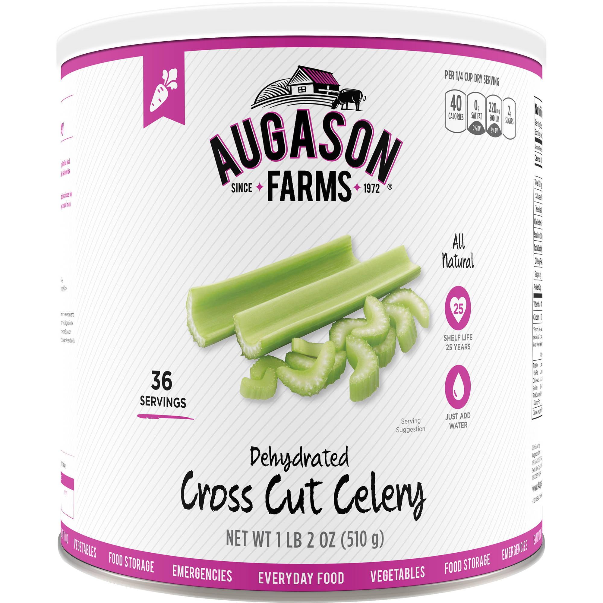Augason Farms Emergency Food Dehydrated Cross Cut Celery, 18 oz by Generic