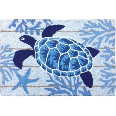 Beautiful Blue Indigo Sea Turtle Swimming In Coral 33 X 21