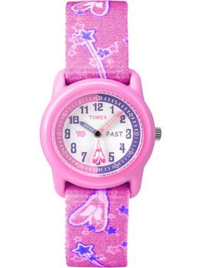 Kids Pink Analog Watch, Ballerina Elastic Fabric Strap