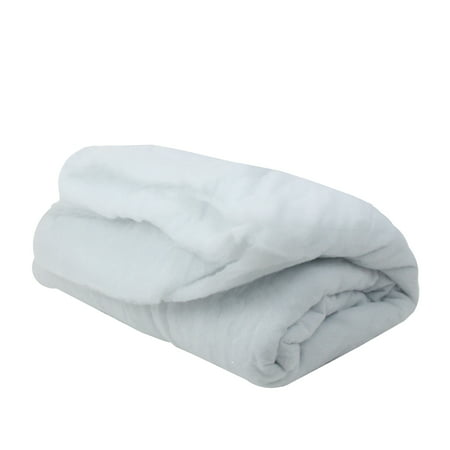 Solid White Artificial Soft Snow Christmas Craft Blanket - 8.25' x 45