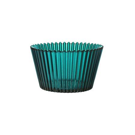 Kosta Boda Cupcake Design Decorative Glass Serving Bowl and Home Decor - Turquoise (Kosta Boda Wine)