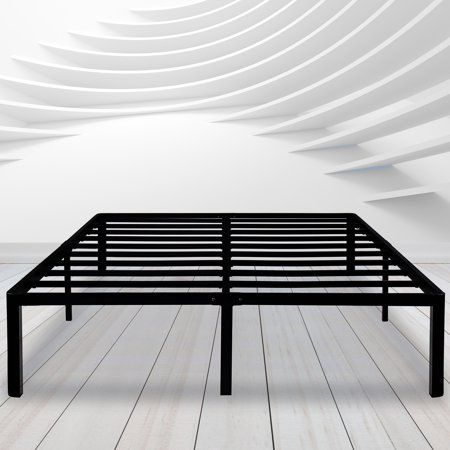 GranRest 14\'\' Round Corner Edge Durable Steel Bed Frame with Non ...