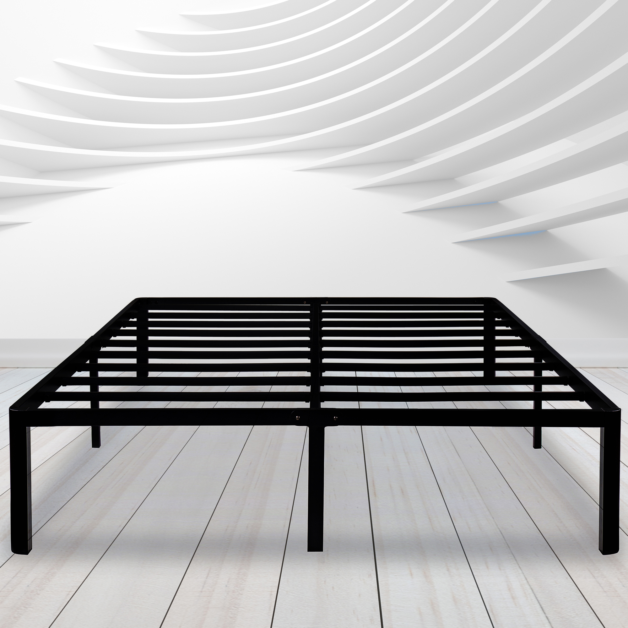 GranRest 14'' Round Corner Edge Durable Steel Bed Frame with Non-Slip Structure,Queen