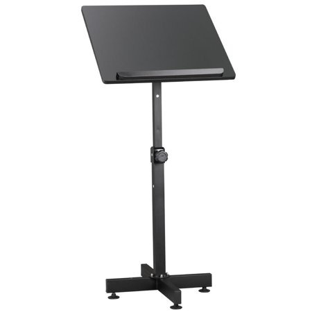 Portable Lectern Podium Book Bible Presentation Stand Pulpit Church Storage Cart (Curved Podium)