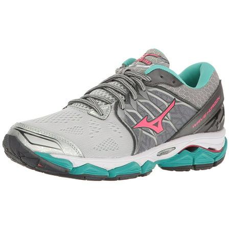 Mizuno Women's Wave Horizon Running Shoe, Silver/Pink, 9 B US ()