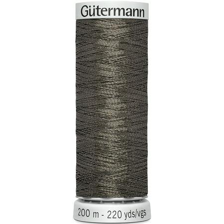 Gutermann 749605-9360 200 m Dekor Metallic Thread, Metal Gray