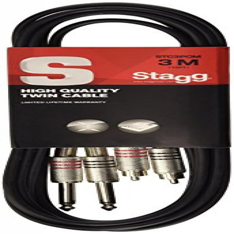 Audio Cables 3.5mm (1 8 inch) TRS Stereo Male to 2 x XLR Female Cable 25ft by