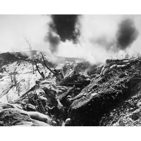 Korean War Trenches 1952 NuS Marines Seek Shelter From Enemy Mortar Fire Deep In A Trench