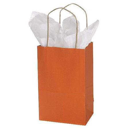 GHP 25-Pcs 5.25 x3.5 x8.5  Burnt Orange Paper Gift Shopping Bags w Twisted Handles GHP 25-Pcs 5.25 x3.5 x8.5  Burnt Orange Paper Gift Shopping Bags w Twisted Handles are constructed with tear-resistant paper and twisted rope handles, these durable bags make it easy on customers toting small purchases from the store to their homes. Add tissue paper, ribbon, raffia, or bows and transform these ordinary shopping bags into beautiful gift bags