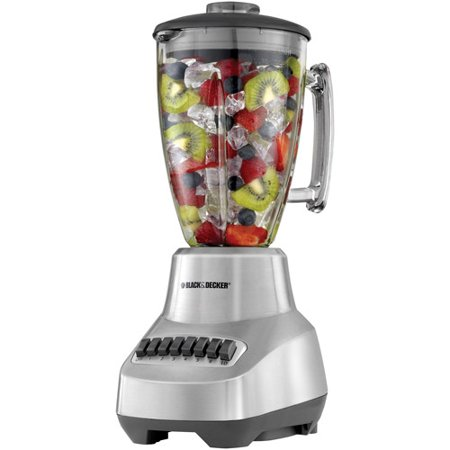 BLACK+DECKER Die-Cast 6-Speed Blender with Glass Jar, Stainless Steel, BL3500S