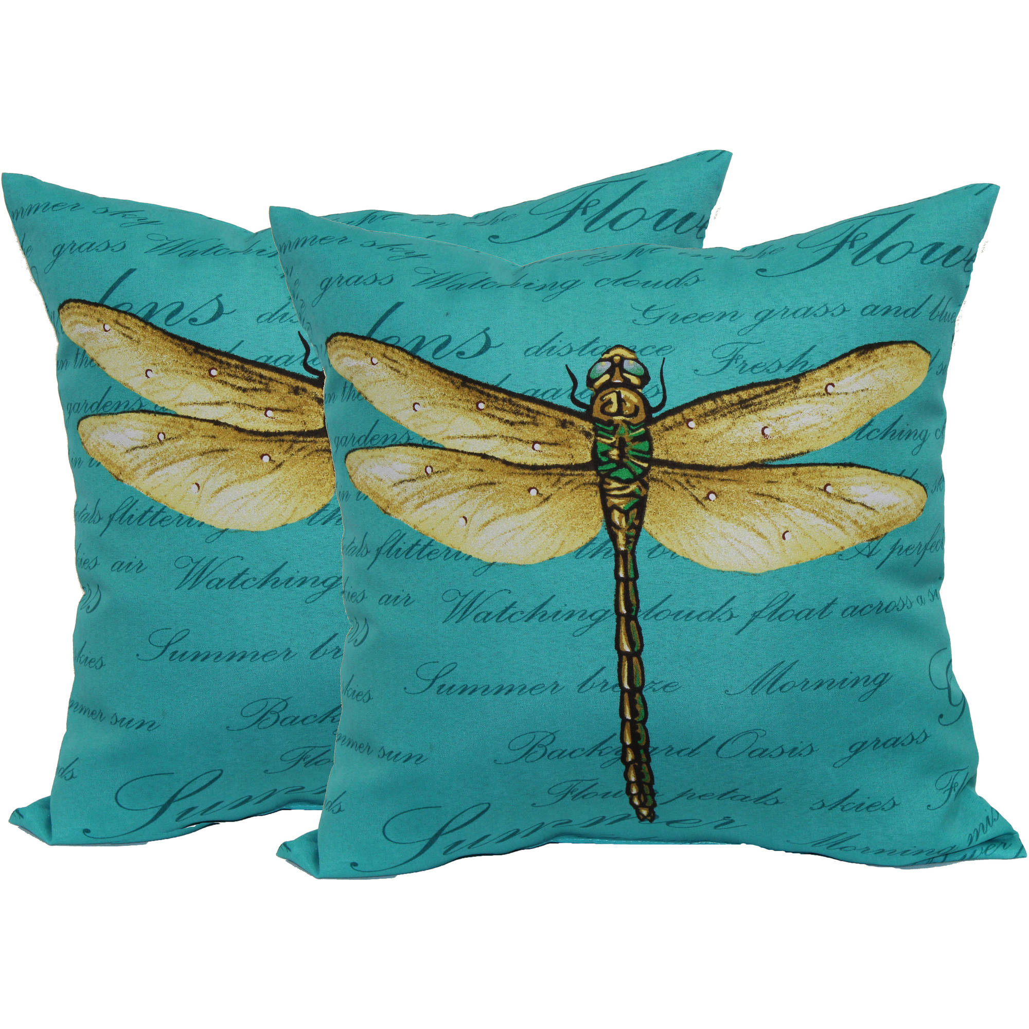 Mainstays Dragonfly Toss Pillow, 2-Pack