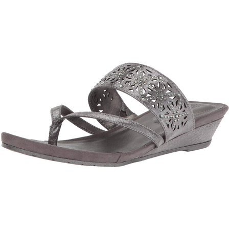 641debd133 Kenneth Cole REACTION Women's Chime Low Wedge Thong Sandal - image 2 ...