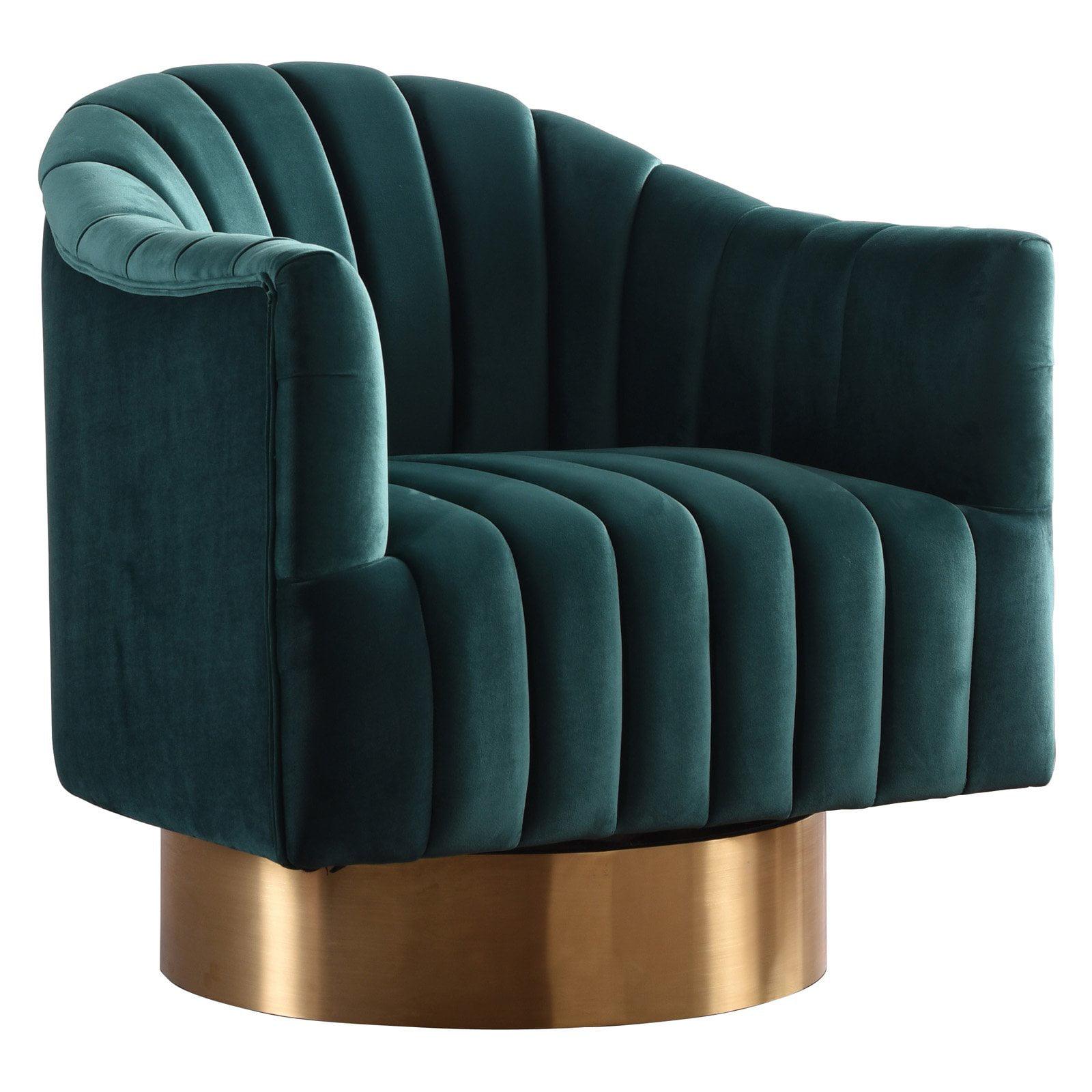 Meridian Furniture Inc Farrah Velvet Accent Chair