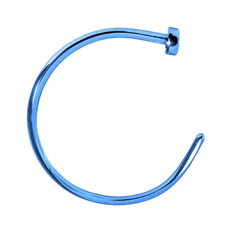 Nose Hoop Ring 22 Gauge (0.75mm) Anodized Stainless Steel 1pc ()