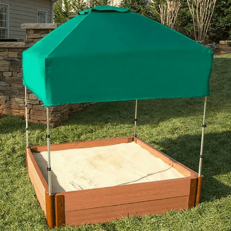 Frame It All 48in. x 48in. x 37in. Telescoping Square Sandbox Canopy/Cover