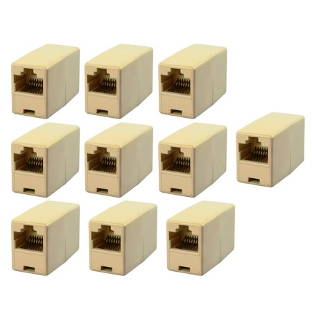 Cat Angel Network (Insten 10 X CAT5 RJ45 Network Cable Extender Plug Coupler Joiner Splitter Connector Adapter )