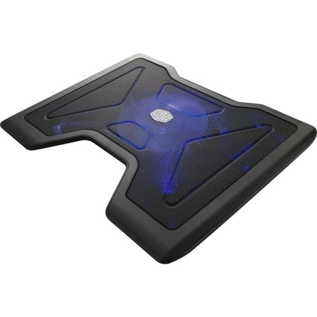 Cooler Master NotePal X2 - Gaming Laptop Cooling Pad with 140mm Blue LED Fan - 1400 rpm - Ball Bearing - Metal, Plasti