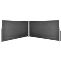 """Retractable Side Awning 63""""x236"""" Black"""