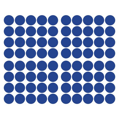 LiteMark 2 Inch Blue Dot Decals - Pack of 80