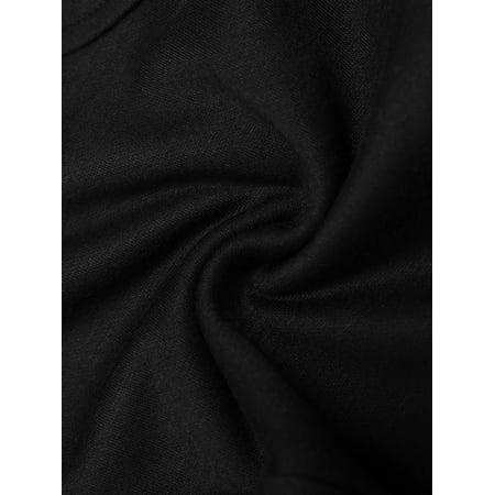 Men Elastic Waist Front Pockets Button Decor Casual Harem Pants W32/34 - image 6 of 7