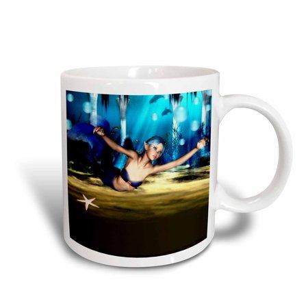 3dRose Beautiful Mermaid Under The Sea, Ceramic Mug, 11-ounce](Under The Sea Items)