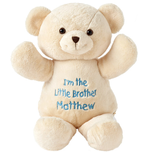 Personalized Little Brother Plush Bear