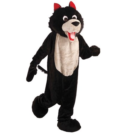 Wolf Mascot Adult Halloween Costume, Size: Men's - One Size