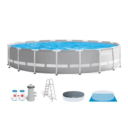 Intex 18 Foot x 48 Inch Prism Frame Above Ground Swimming Pool Set with