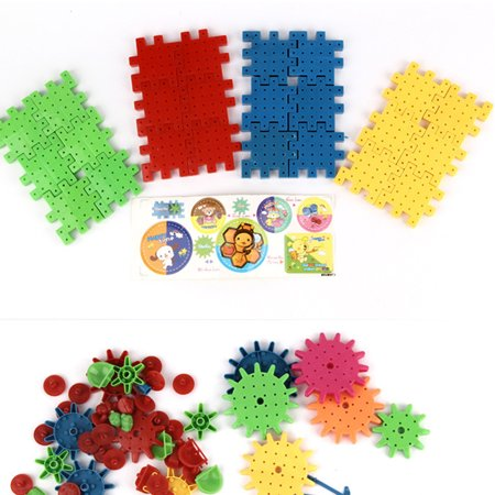 HomeholidayChildren Colorful Plastic Electric Gears 3D Puzzle Building Blolck Kits Bricks Educational Toys Kids Gifts - image 3 of 8