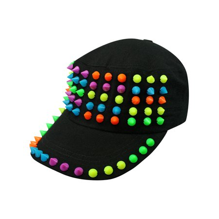 Cadet Style Cotton Cap Hat With Rainbow Spikes Spike 24 Caps