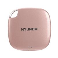 Hyundai 2TB Ultra Portable Data Storage Fast External SSD, PC/MAC/Mobile- USB-C/USB-A, Dual Cable Included, Piano Black  HTESD2048PB