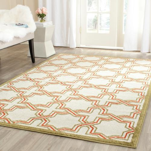 Safavieh Amherst Ivory/ Light Green Rug (7' Square)