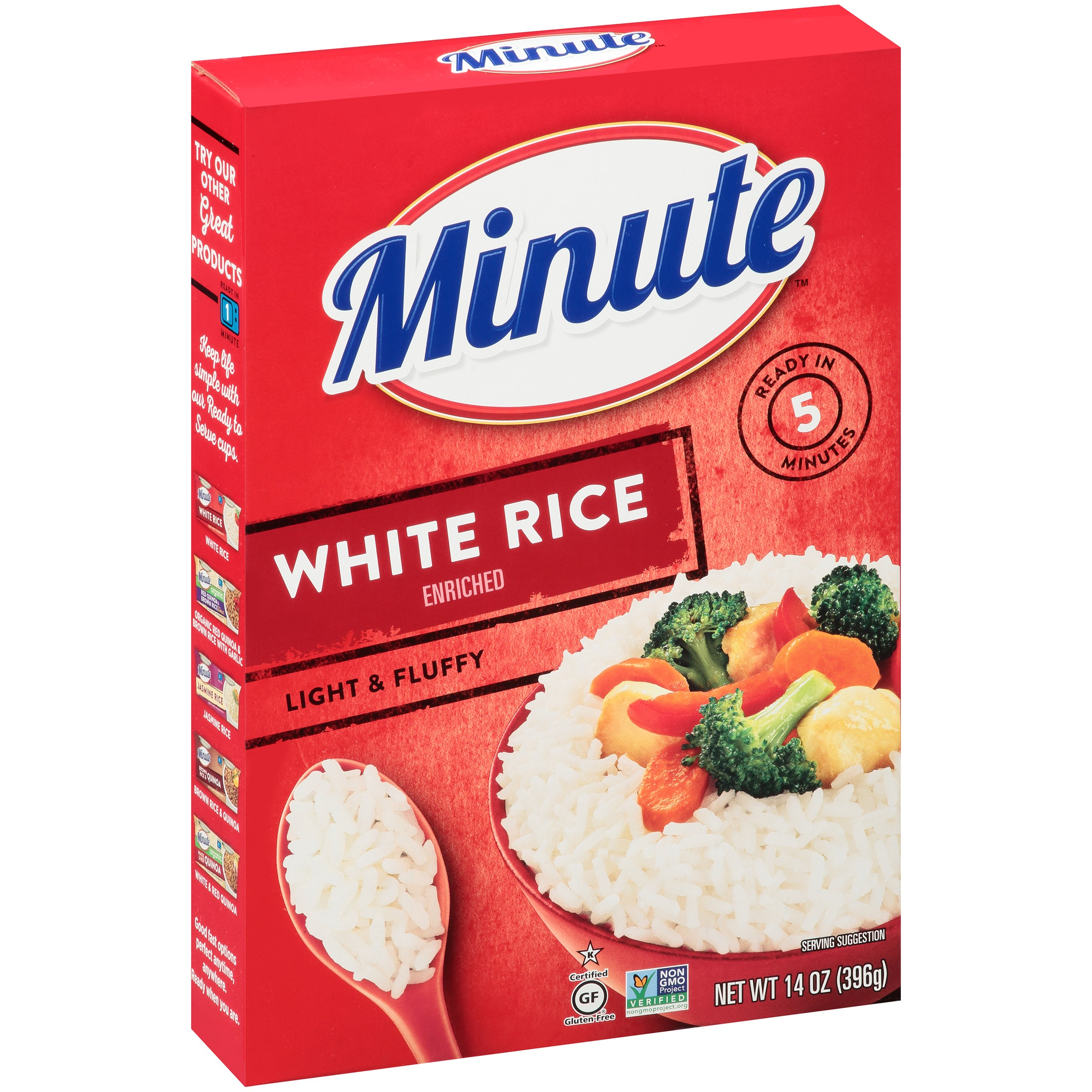 Minute White Instant Enriched Long Grain Rice 14 Oz Box