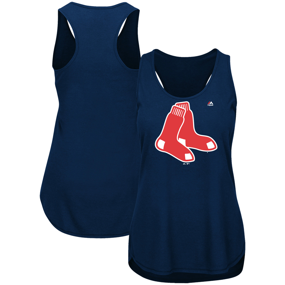 Boston Red Sox Majestic Women's Plus Size Tested Tank Top - Navy