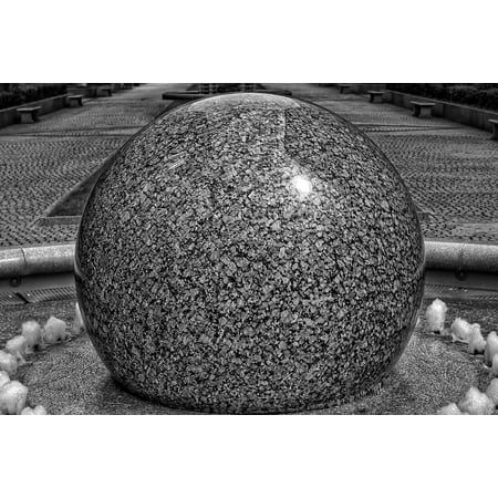 Gargoyle Ball - LAMINATED POSTER Fountain Water Feature Gargoyle Water Ston Ball Poster Print 24 x 36