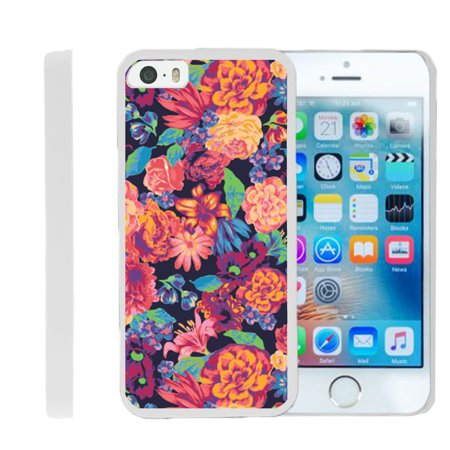 Apple iPhone 5 Case | iPhone 5s Case| iPhone SE Case  [ Flex Force ] Lightweight Flexible Phone Case - Floral Dream