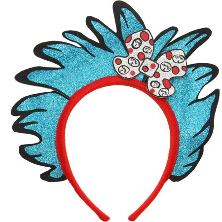 Thing 1 and 2 Glitter Child Headband, Halloween Accessory