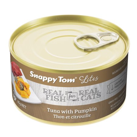 (12 Pack) Snappy Tom Lites Tuna with Pumpkin Grain Free Wet Cat Food, 3.0 Oz.